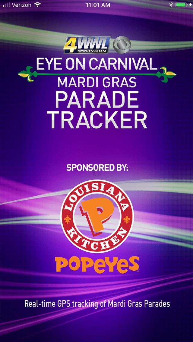 Mardi Gras Parade Tracker